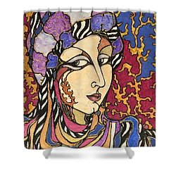Decoface 1 Shower Curtain by Rae Chichilnitsky
