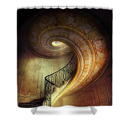 Decorated Spiral Staircase  Shower Curtain