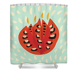 Decorative Beautiful Abstract Tulip Shower Curtain