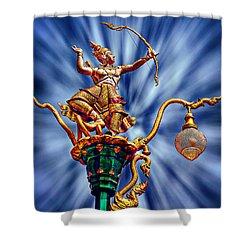 Decorative City Lamp Post Khon Kaen-thailand Shower Curtain
