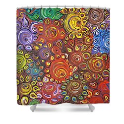 Decorative Flowers Shower Curtain by Rita Fetisov
