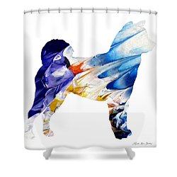 Decorative Husky Abstract O1015c Shower Curtain
