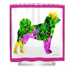 Decorative Husky Abstract O1015d Shower Curtain