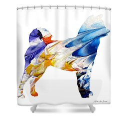 Decorative Husky Abstract O1015e Shower Curtain