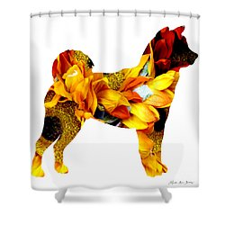 Decorative Husky Abstract O1015g Shower Curtain