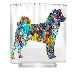 Decorative Husky Abstract O1015h Shower Curtain