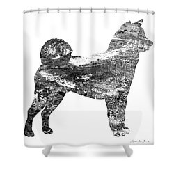 Decorative Husky Abstract O1015j Shower Curtain