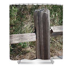 Shower Curtain featuring the photograph Decorative View - Central Texas Fence Line by Ray Shrewsberry