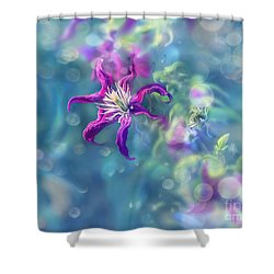 Dedicated To... Shower Curtain by Agnieszka Mlicka