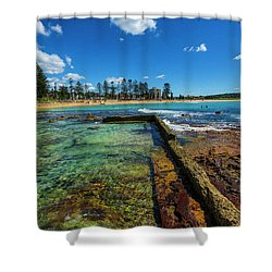 Dee Why Rock Pool Shower Curtain