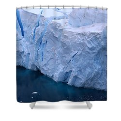 Deep Blue Shower Curtain by Andrei Fried
