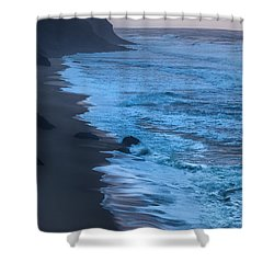 Deep Blue Shower Curtain