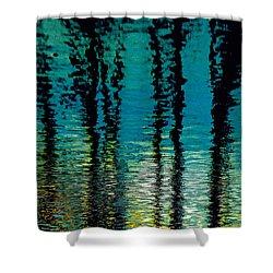 Deep Blue Shower Curtain by Gillis Cone