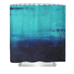 Shower Curtain featuring the painting Deep Blue Sea by Nicole Nadeau