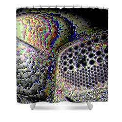 Shower Curtain featuring the digital art Deep Dark by Ron Bissett
