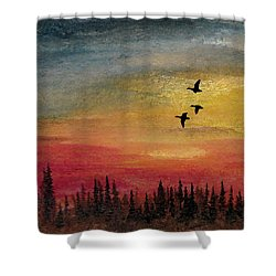 Deep Forest Shower Curtain by R Kyllo