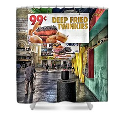 Deep Fried Twinkies Shower Curtain