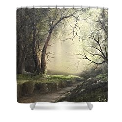 Deep Hollow  Shower Curtain