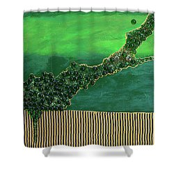 Deep Impact Shower Curtain by Donna Blackhall
