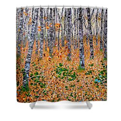Deep In The Woods- Large Work Shower Curtain