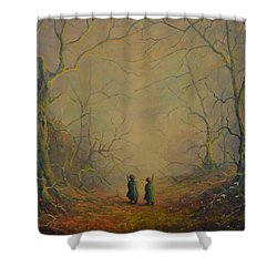 Deep Into The Forest Shower Curtain