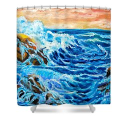 Shower Curtain featuring the painting Deep by Jenny Lee