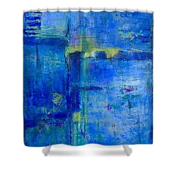 Deep Lagoon Shower Curtain