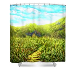 Deep Meadow Tranquility Shower Curtain
