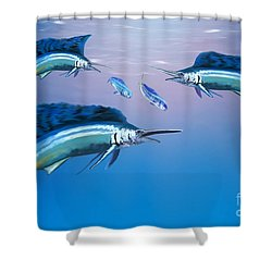 Deep Ocean Shower Curtain by Corey Ford