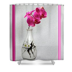 Shower Curtain featuring the photograph Deep Pink  Orchids by Linda Phelps
