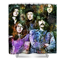 Deep Purple Together Shower Curtain