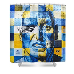Deep Rawlins Shower Curtain