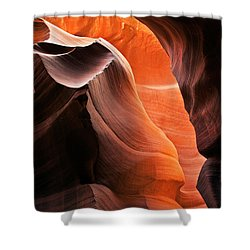 Deep Red Glow Shower Curtain by Mike  Dawson