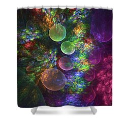Deep Sea Flora I Shower Curtain
