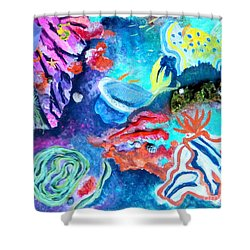 Deep Sea Nudibranch Shower Curtain