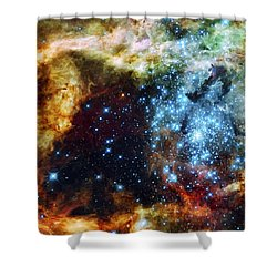 Deep Space Fire And Ice 2 Shower Curtain