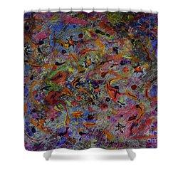 Deep Thinking Shower Curtain by Alexis Baranek