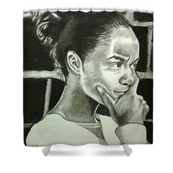 Deep Thinking Shower Curtain