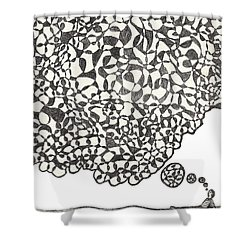 Deep Thoughts Shower Curtain by Jean Haynes