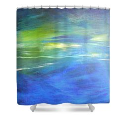 Shower Curtain featuring the painting Deeper And Deeper by Mary Sullivan