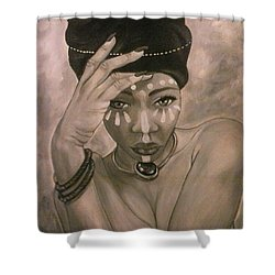 Deeply Rooted Shower Curtain by Jenny Pickens