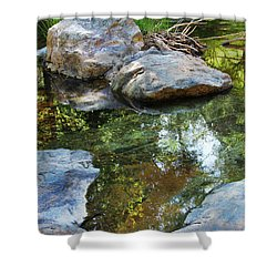 Deer Creek Point Print Shower Curtain