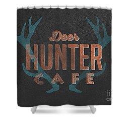 Nice Deer Hunter Cafe Shower Curtain