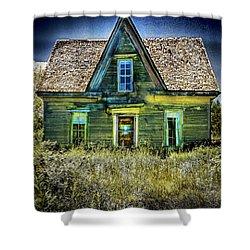 Deer Isle Haunted House Shower Curtain
