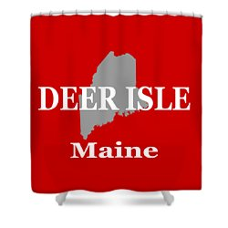 Shower Curtain featuring the photograph Deer Isle Maine State City And Town Pride  by Keith Webber Jr