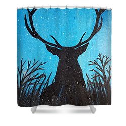 Shower Curtain featuring the painting Deer  by Jennah Lenae