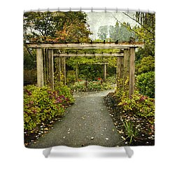 Fall In The Garden At Deer Lake Shower Curtain
