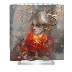 Deer Princess Shower Curtain