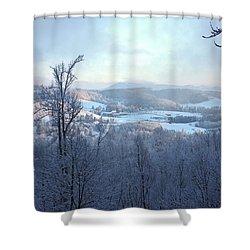 Deer Valley Winter View Shower Curtain by Meta Gatschenberger