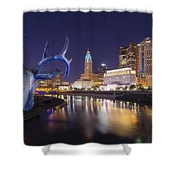 Deer View Columbus Shower Curtain